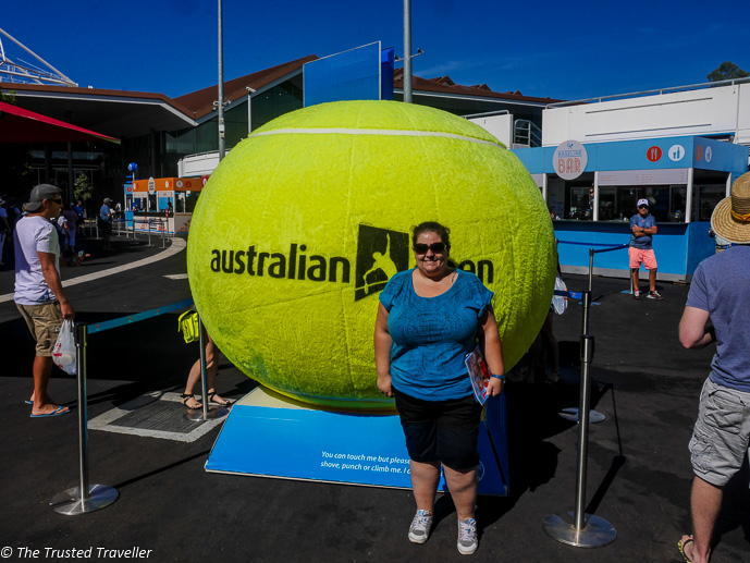 Me at the Australian Open Tennis Tournament at the beginning of 2015 - Where I've Been - The Trusted Traveller