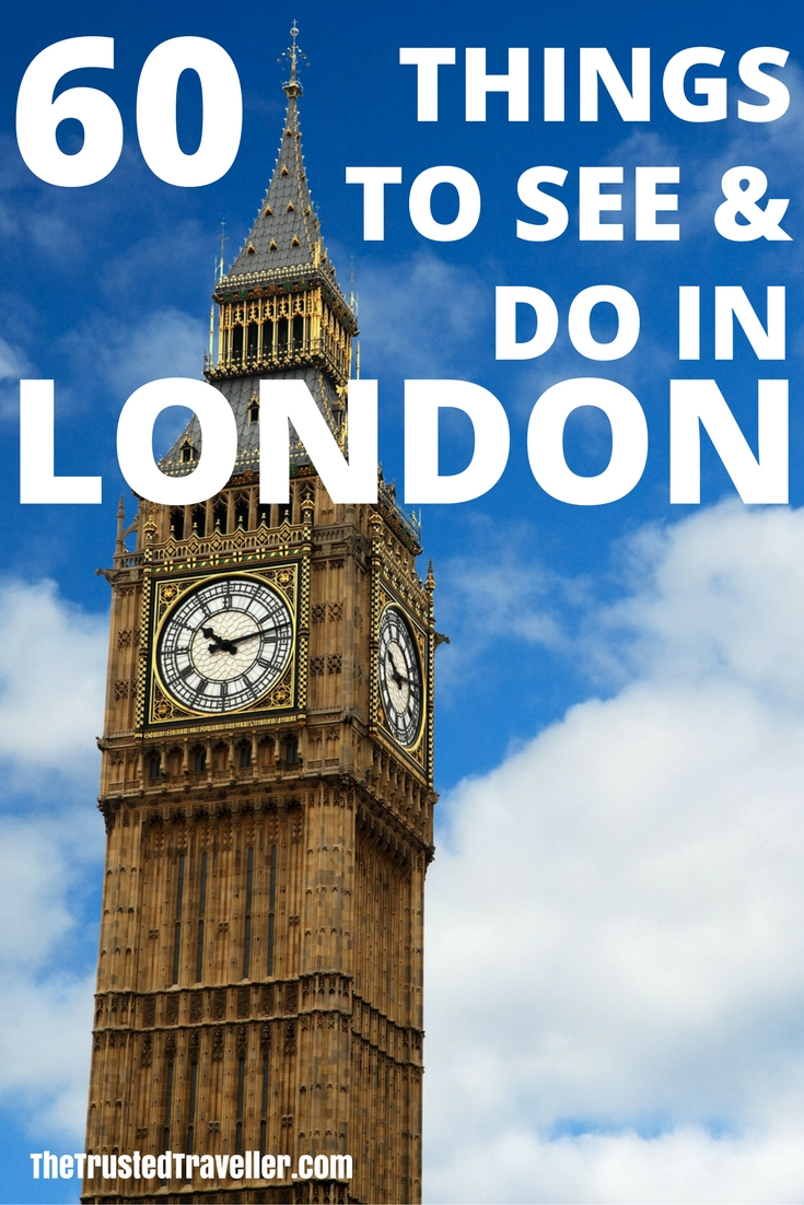 Big Ben - Don't miss seeing this iconic clock tower when visiting London - 60 Things to See & Do in London - The Trusted Traveller