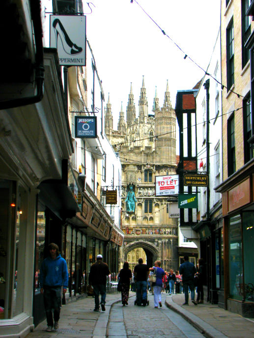 Approaching Canterbury Cathedral