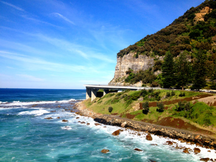 Sea Cliff Bridge on the Grand Pacific Drive - The Trusted Traveller