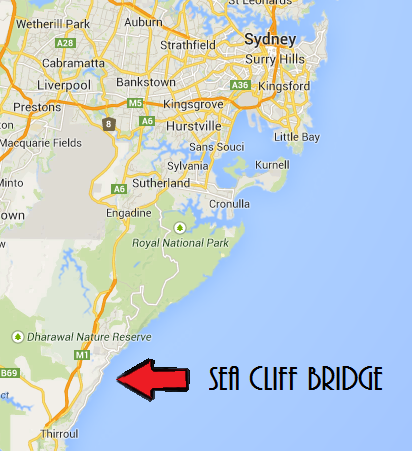 Sea Cliff Bridge Map