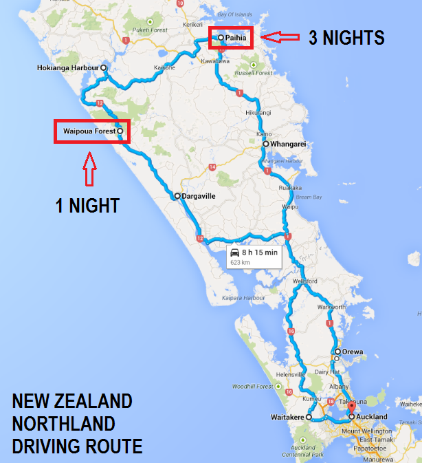 Northland New Zealand Map.New Zealand S Northland A Mini Road Trip The Trusted Traveller