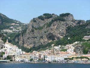 Appraoching Amalfi from the water