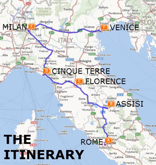 Train Map Of Italy Cities.The Best Of Italy By Train A Two Week Itinerary The