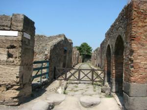 Ruins over Pompeii