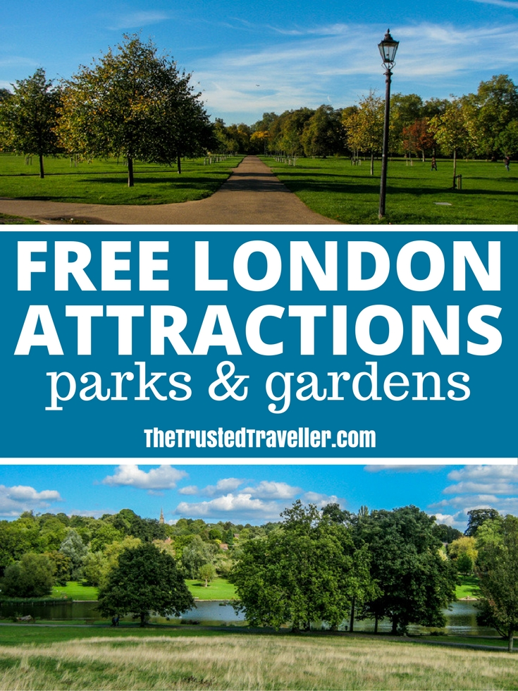 Explore London's parks and gardens for free including Hyde Park and Hampsted Heath - 30 Free London Attractions - The Trusted Traveller