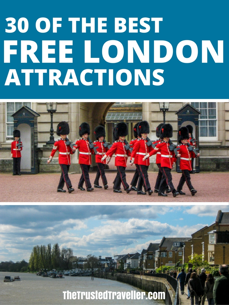 From markets to galleries, museums and parks, we've got you covered with this mega list of FREE things to see and do in London. Save time and money with our helpful travel planning advice. - 30 Free London Attractions - The Trusted Traveller