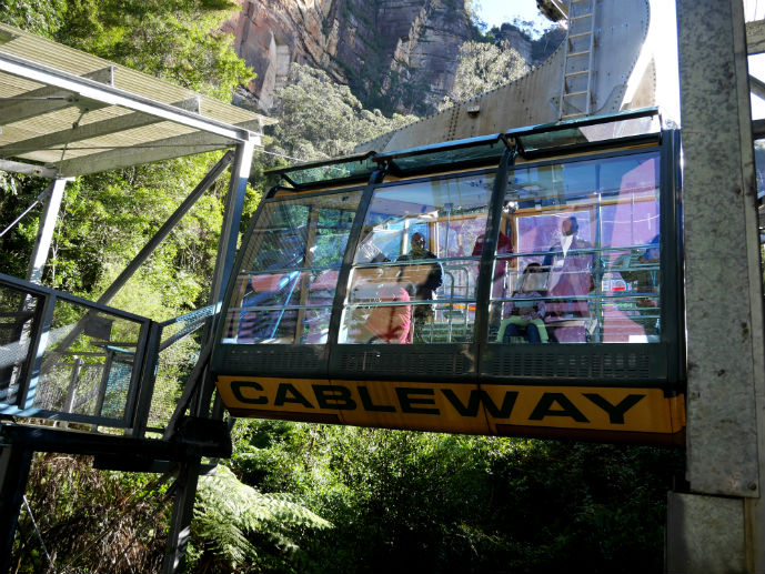 Scenic Cableway - Visiting Scenic World in Australia's Blue Mountains
