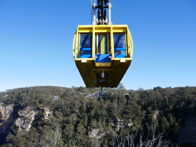 Scenic Skyway - Visiting Scenic World in Australia's Blue Mountains