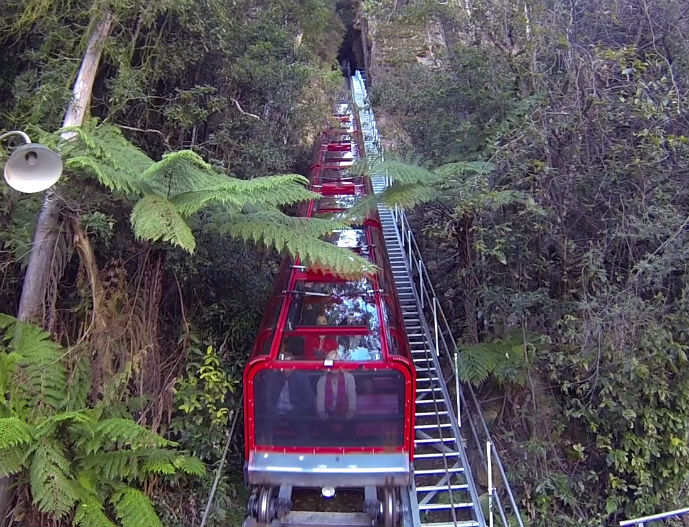 Scenic Railway - Visiting Scenic World in Australia's Blue Mountains