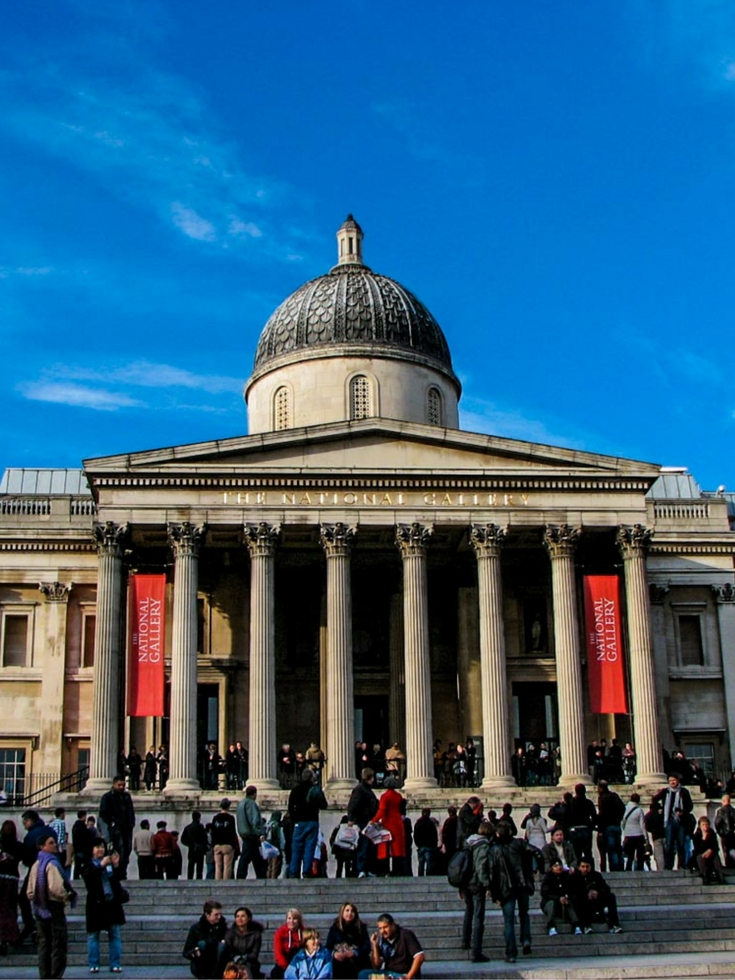The National Gallery in Trafalgar Square, one of the free museums and galleries in London - 30 Free London Attractions - The Trusted Traveller