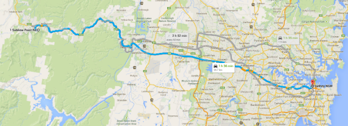 Getting there map - Hotel Review: Fairmont Resort Blue Mountains - The Trusted Traveller
