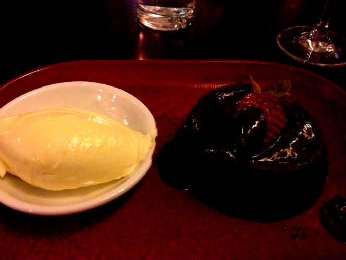 Chocolate molten pudding in Embers Restaurant - Hotel Review: Fairmont Resort Blue Mountains - The Trusted Traveller