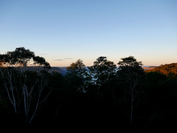 Early morning view from our room - Hotel Review: Fairmont Resort Blue Mountains - The Trusted Traveller