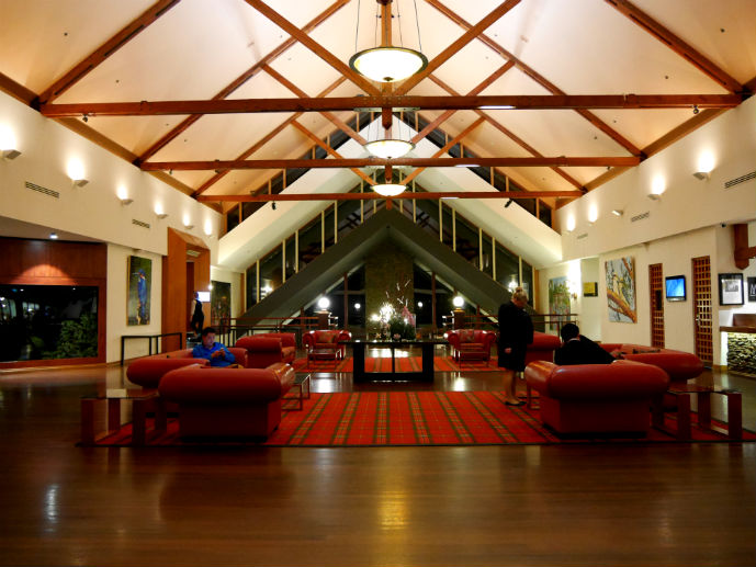 Entering the foyer a night - Hotel Review: Fairmont Resort Blue Mountains - The Trusted Traveller