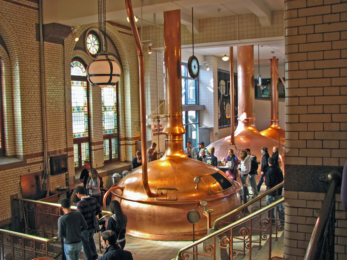 Inside the old brewery at the Heineken Experience - Things to Do in Amsterdam - The Trusted Traveller
