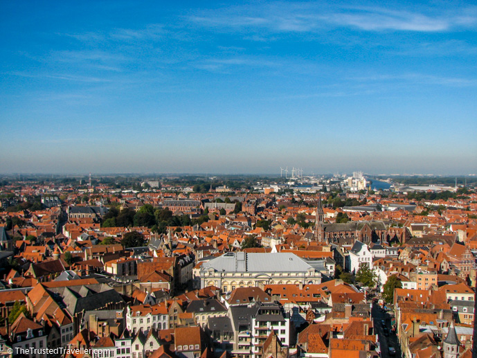 The view from the Belfry in Bruges in Belgium - Things to Do in Bruges - The Trusted Traveller