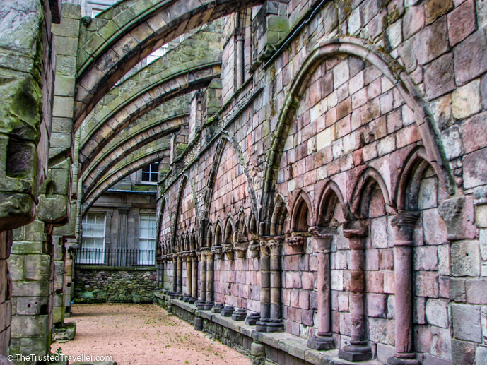 The ruins of Holyrood Abbey at Holyrood House Palace in Edinburgh - Things to Do in Edinburgh - The Trusted Traveller