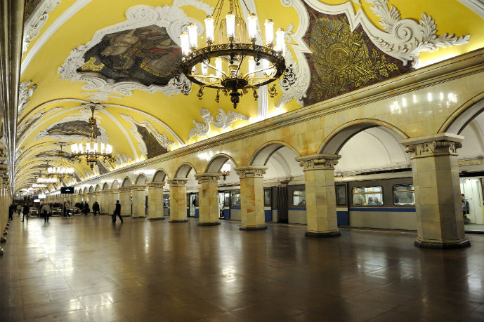 Komsomolskaya Station Platform. Yes this is a Metro station! - Getting Around Moscow - The Trusted Traveller