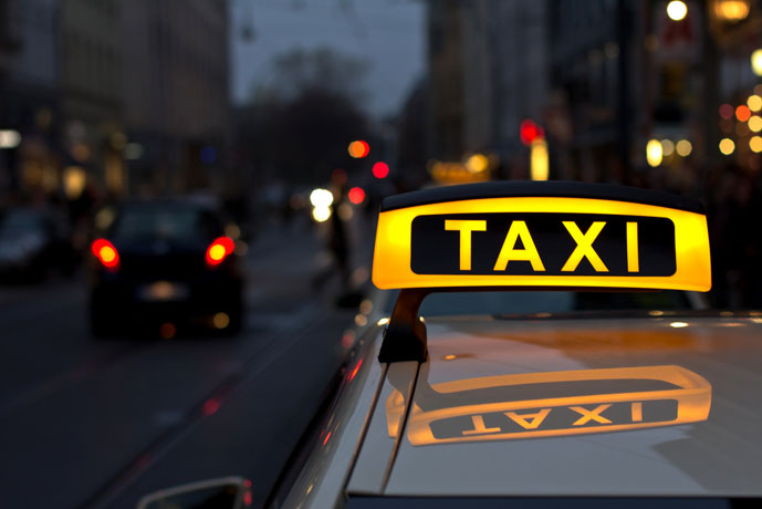 A vacant taxi is indicated by this yellow light - Getting Around Berlin - The Trusted Traveller