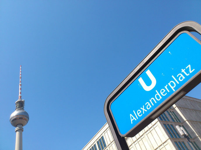 Alexanderplatz, one of the busiest U-Bahn stations on the network - Getting Around Berlin - The Trusted Traveller
