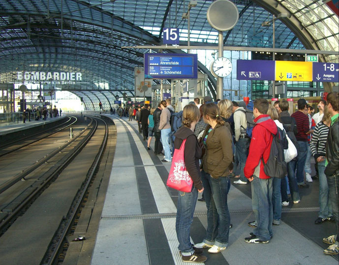 Passengers waiting at the Hauptbahnhof - Getting Around Berlin - The Trusted Traveller