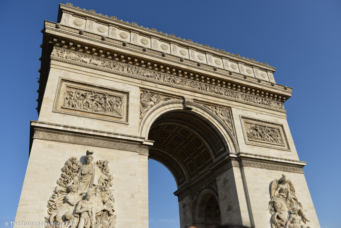 Arc de Triomphe - 30 Things to Do in Paris - The Trusted Traveller