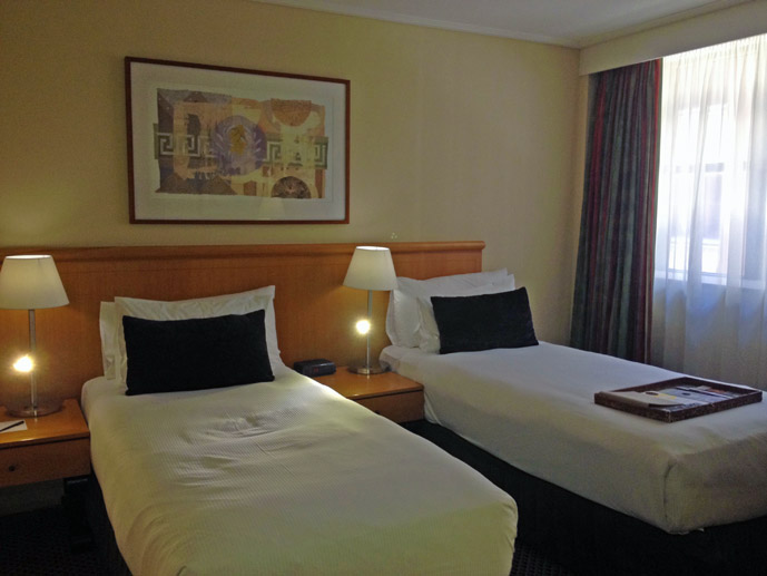 Twin room in the Rydges World Square, Sydney - Where to Stay - The Trusted Traveller