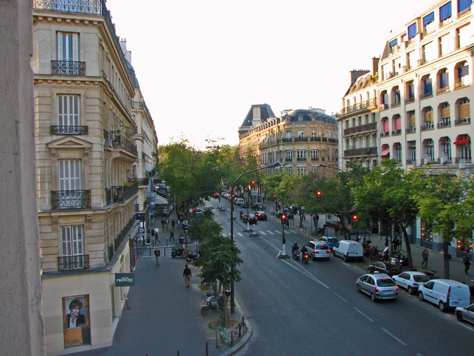 Paris street view from the window of a room at the Grand Hotel de la Avenue - Where to Stay - The Trusted Traveller
