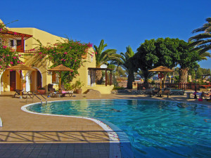 Smaragdi Hotel pool in Perisa, Santorini- Where to Stay - The Trusted Traveller