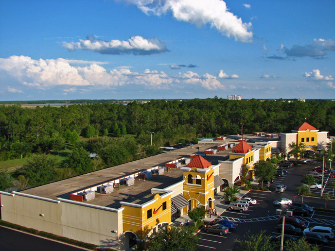 The view from the penthouse apartment at the Lake Buena Vista Village Resort & Spa in Orlando Florida- Where to Stay - The Trusted Traveller