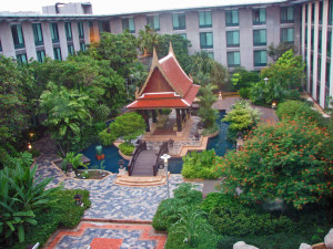 Novotel Bangkok inner courtyard view from the rooms- Where to Stay - The Trusted Traveller