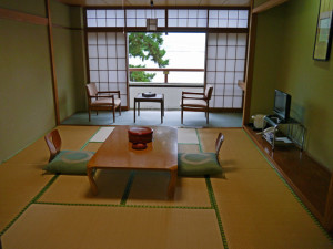 The day time set up for a room at the Miyajima Seaside Hotel, Japan- Where to Stay - The Trusted Traveller