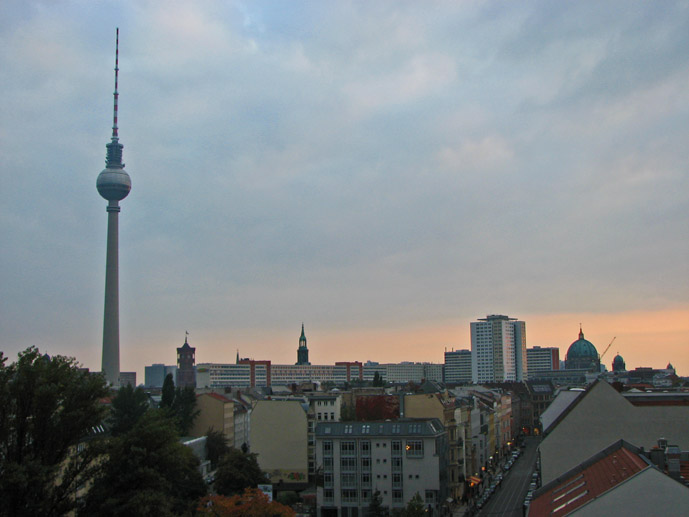 Roof top views form the Wombats Hostel in Berlin, Germany- Where to Stay - The Trusted Traveller