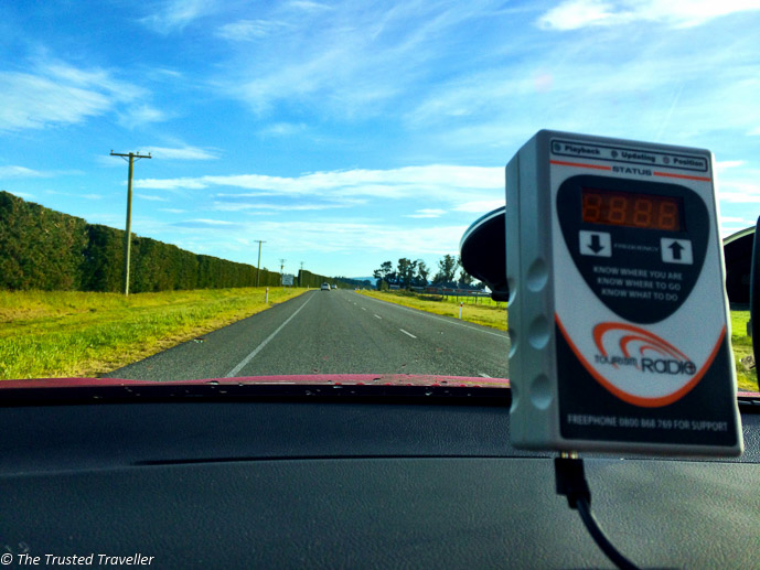 Tourism Radio guiding us through New Zealand - Driving from Christchurch to Marlborough - The Trusted Traveller