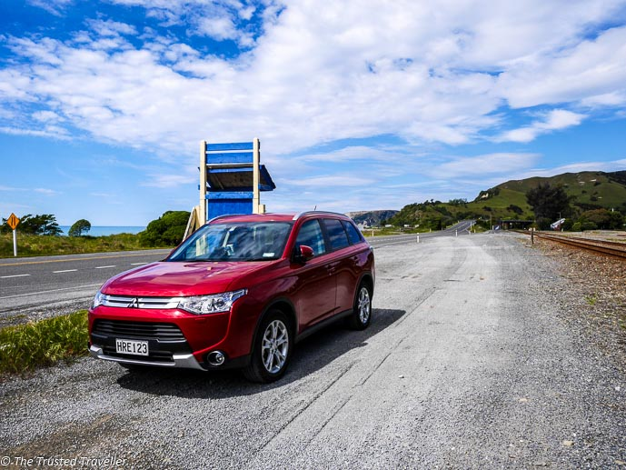 Our transport through New Zealand, a Mitsubishi Outlander - Driving from Christchurch to Marlborough - The Trusted Traveller