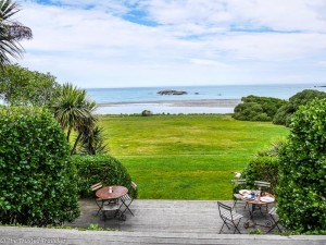 The view from the terrace at The Store at Kekerengu - Driving from Christchurch to Marlborough - The Trusted Traveller