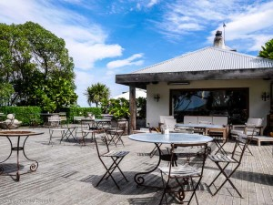 The terrace at The Store at Kekerengu - Driving from Christchurch to Marlborough - The Trusted Traveller