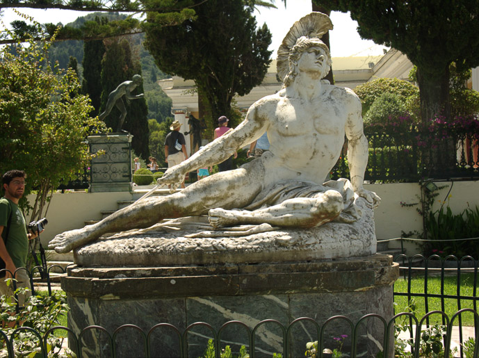 The dying Achilles - 5 Things to Do on Corfu Island - The Trusted Traveller