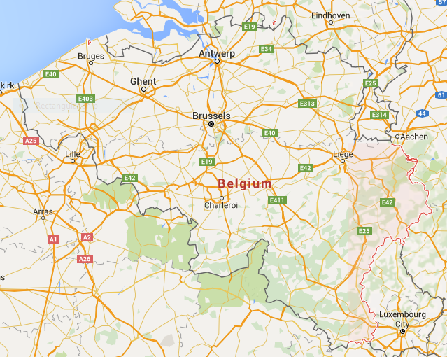 Belgium Map - Belgium Travel Guide - The Trusted Traveller
