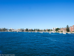 The harbour side of Manly