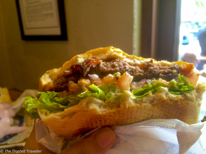 Super juicy beef burger from Ferg Burger - Things to Do in Queenstown - The Trusted Traveller