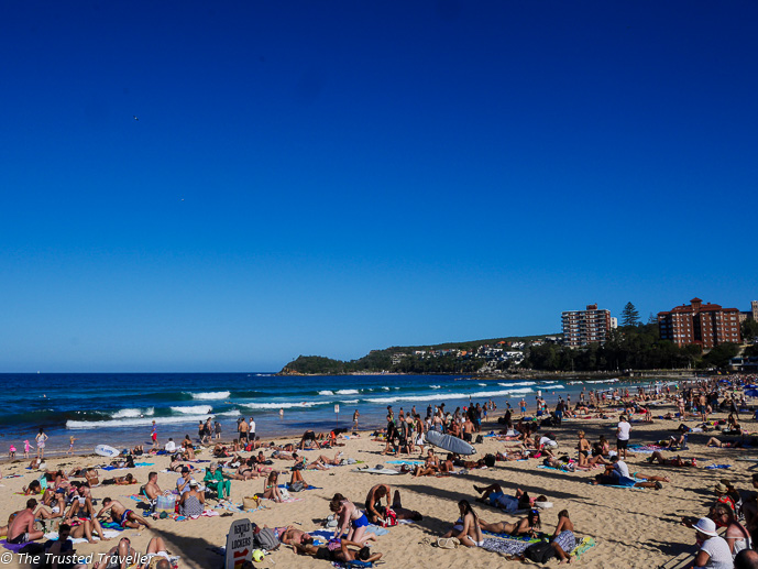 Cool off at Manly Beach, just one of many great beaches in Sydney - 35 Free Things to Do in Sydney - The Trusted Traveller