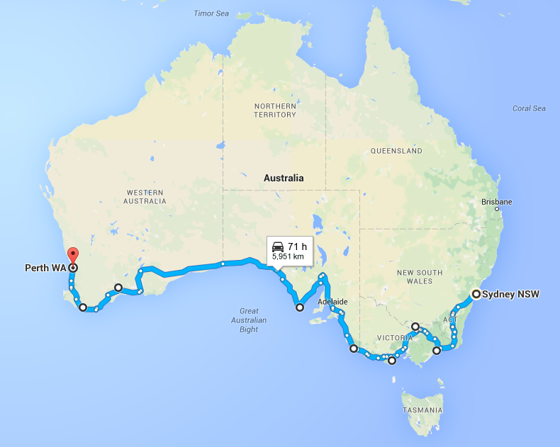 Australia Driving Map.Driving Sydney To Perth Our Great Australia Road Trip Plan The