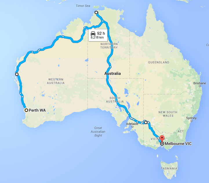 Driving Perth to Melbourne via Darwin - Our Great Australian Road Trip Place - The Trusted Traveller