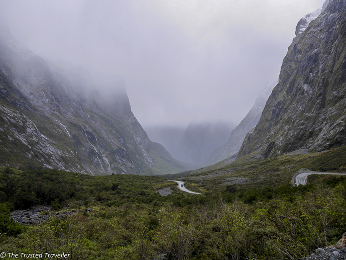 The winding road down to Milford Sound - Our Journey to Milford Sound - In Photos - The Trusted Traveller
