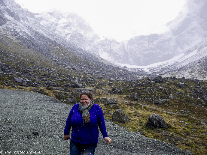It's snowing! - Our Journey to Milford Sound - In Photos - The Trusted Traveller