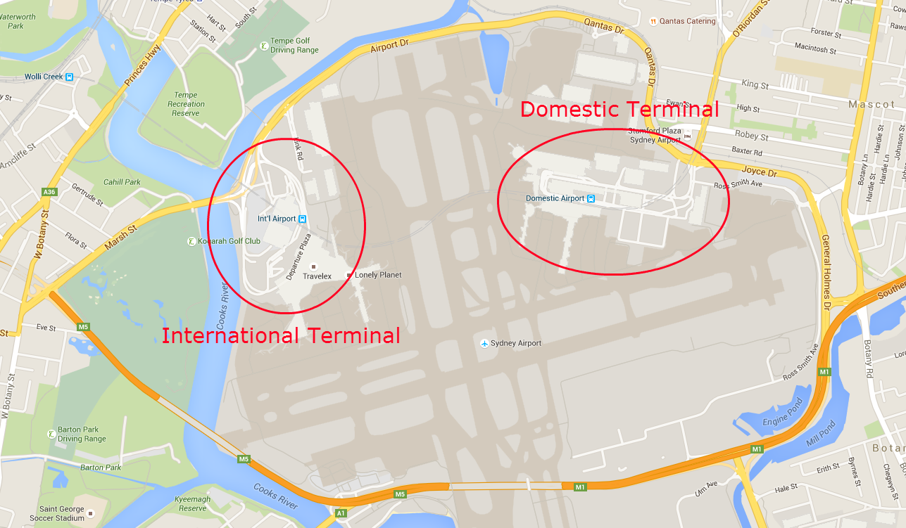 Sydney Airport Map - Getting Around Sydney - The Trusted Traveller