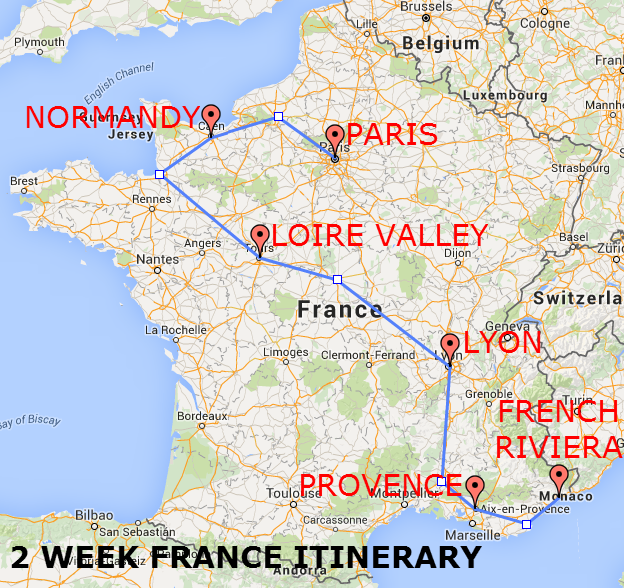 The Best of France A Two Week Itinerary The Trusted Traveller