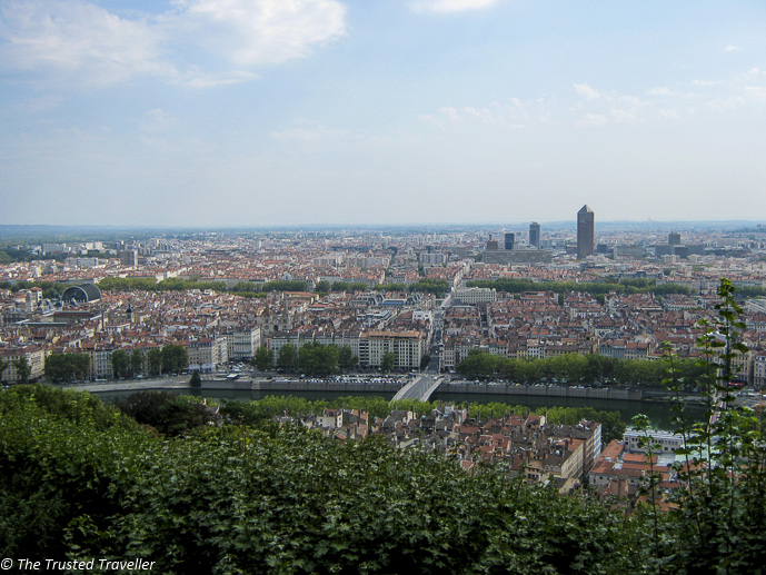 Lyon from Fourviere - The Best of France: A Two Week Itinerary - The Trusted Traveller